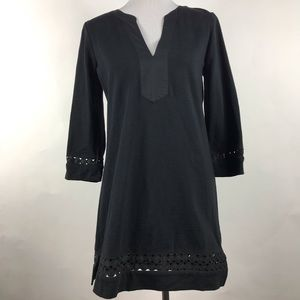 J Crew Women's Black Long Sleeve Tunic Cover up